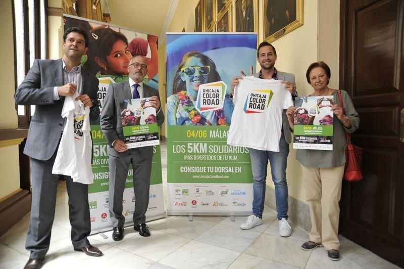 PRESENTACIÓN DE LA CARRERA SOLIDARIA UNICAJA COLOR ROAD A BENEFICIO DE UNICEF 2